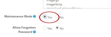 cara mengktifkan maintenace mode di opencart