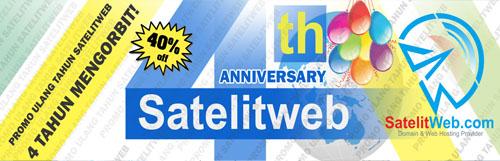 Promo Ulang Tahun Satelitweb yang ke 4 (Selesai!)