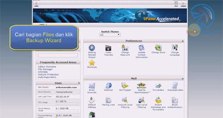 cara backup website wordpress di cpanel