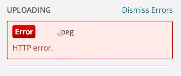Solusi Galat atau HTTP Error Saat Upload Gambar di WordPress