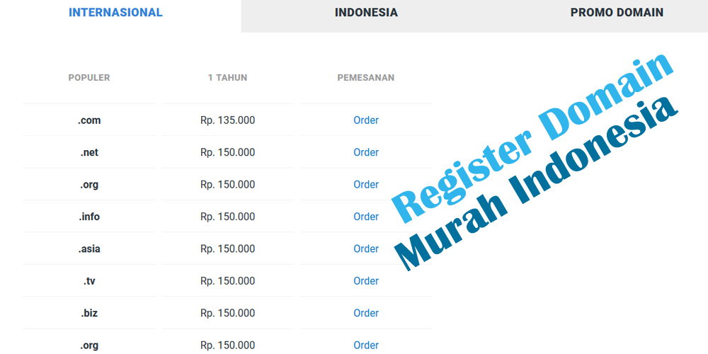 Register Nama Domain Murah Indonesia