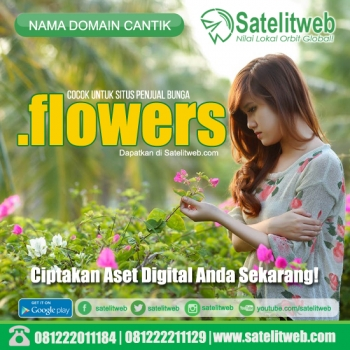 domain murah dot flowers